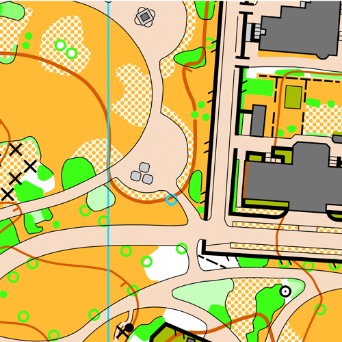 Orientierungslaufkarte Türkenschanzpark